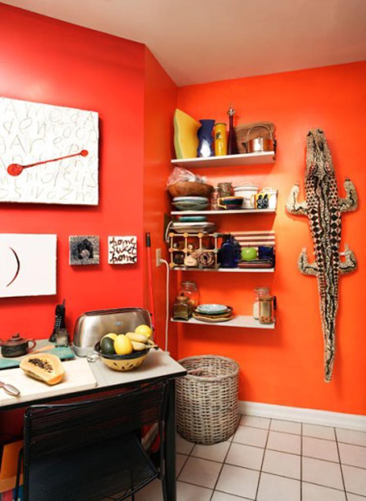 Stock Photo: 1241-1760 Interior of a domestic kitchen