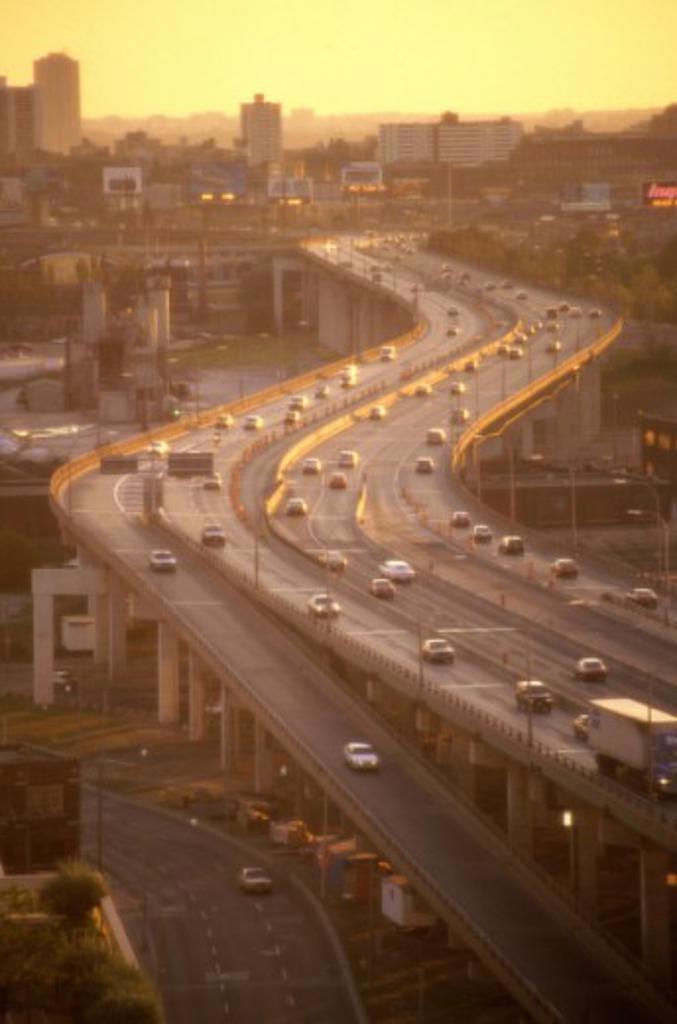Gardiner Expressway Toronto Ontario Canada  : Stock Photo