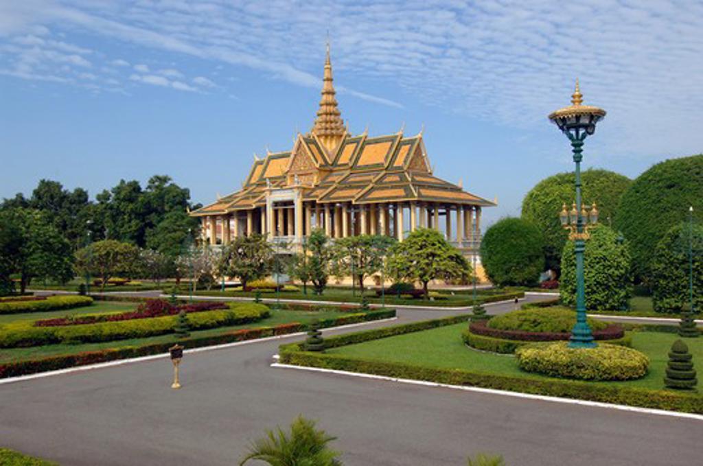 Cambodia, Phnom Penh, King's palace : Stock Photo