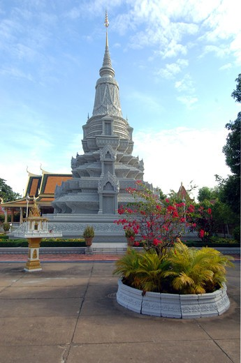 Stock Photo: 1245-685 Cambodia, Phnom Penh, King's palace