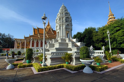 Cambodia, Phnom Penh, King's palace : Stock Photo