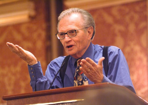 Stock Photo: 1245-W513 Larry King, Talk Show Host, (b. 1933)