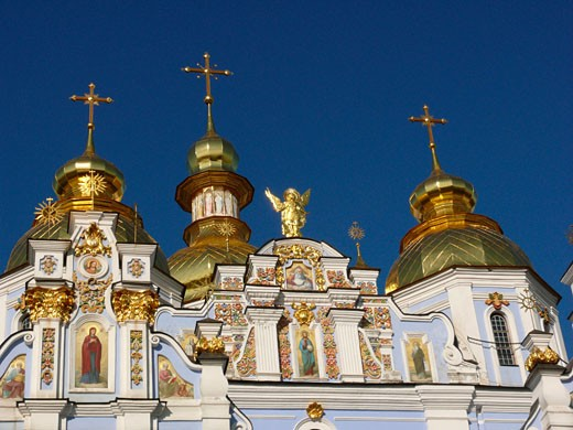Stock Photo: 1246-1032B Low angle view of a church, St. Michael's Golden-Domed Monastery, Kiev, Ukraine