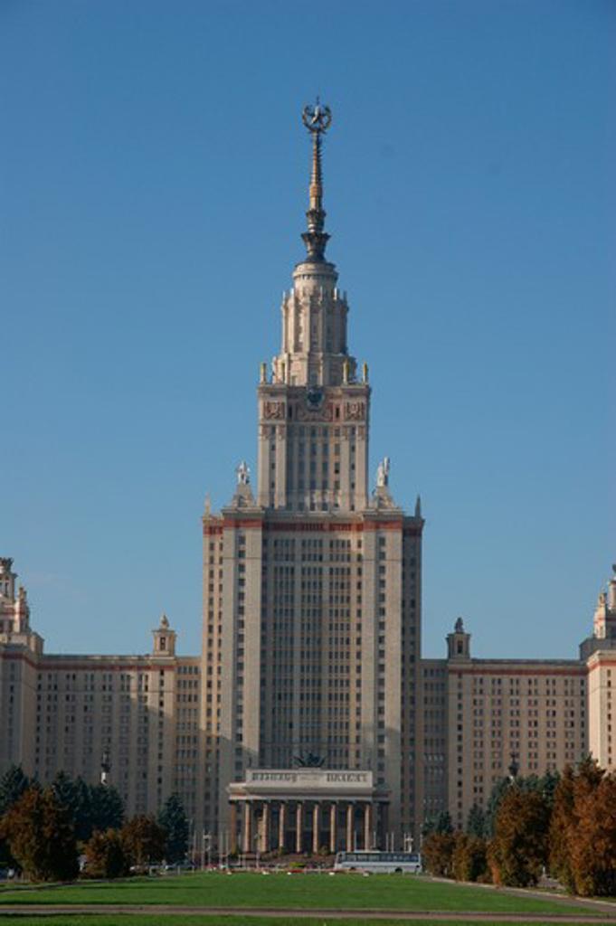 RUSSIA, Moscow, Sparrow Hills: Lomonosov University : Stock Photo