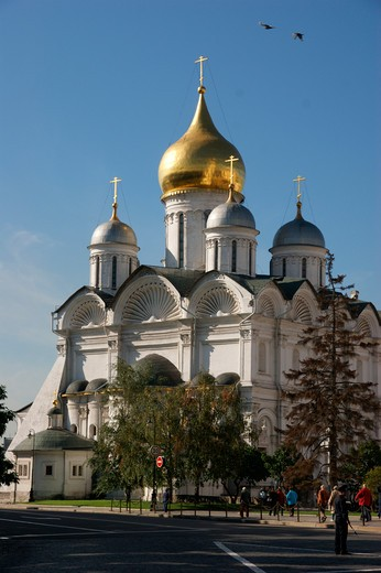 Stock Photo: 1246-1553 RUSSIA, Moscow, Kremlin:  Archangel Mikhail Cathedral