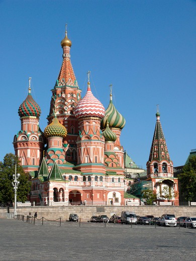 Stock Photo: 1246-1622 RUSSIA, Moscow, Red Square: Basilius Cathedral