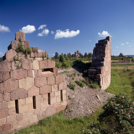 Old ruins of a building, Bomarsund, Aland Islands, Finland : Stock Photo