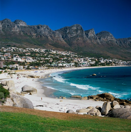 Stock Photo: 1246-811 Panoramic view of a beach, Cape Town, South Africa