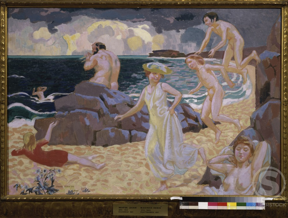 Polyphemus by Maurice Denis, 1907, 1870-1943, Russia, Moscow, Pushkin Museum of Fine Arts : Stock Photo