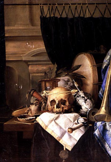 Allegory of the Frailty, by Pieter van der Willigen, 1635-1694, Russia, Moscow, Pushkin Museum of Fine Arts : Stock Photo