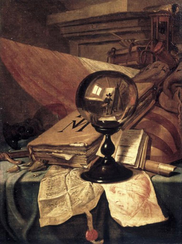 Vanitas Vincent Laurensz van der Vinne (1629-1702/Flemish) Pushkin Museum of Fine Arts Moscow  : Stock Photo