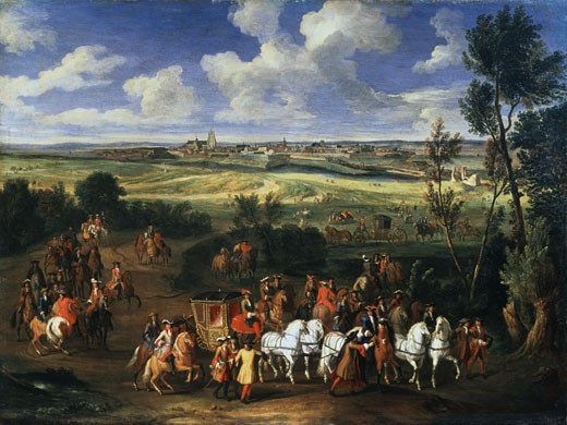 Stock Photo: 1249-359 King's Cortege Adam Frans van der Meulen (1632-1690 Flemish) Oil On Canvas