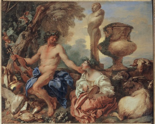 Pastoral Scene, Faun and the Shepherdess