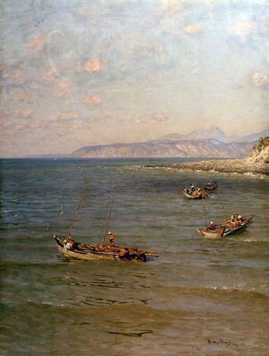 Black Sea Coast by Nikolay Nikanorovic Dubovskoy, oil on canvas, 1912, 1859-1918, Russia, Vologda regional picture gallery : Stock Photo