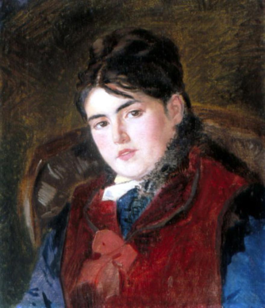 Stock Photo: 1249-695 Portrait of a Woman by Konstantin E. Makovskij, (1839-1915), Russia, Vologda, Vologda Regional Art Gallery