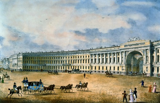 Stock Photo: 1249-705 Main Staff Arc From the Palace Square by unknown artist, lithograph, 1822