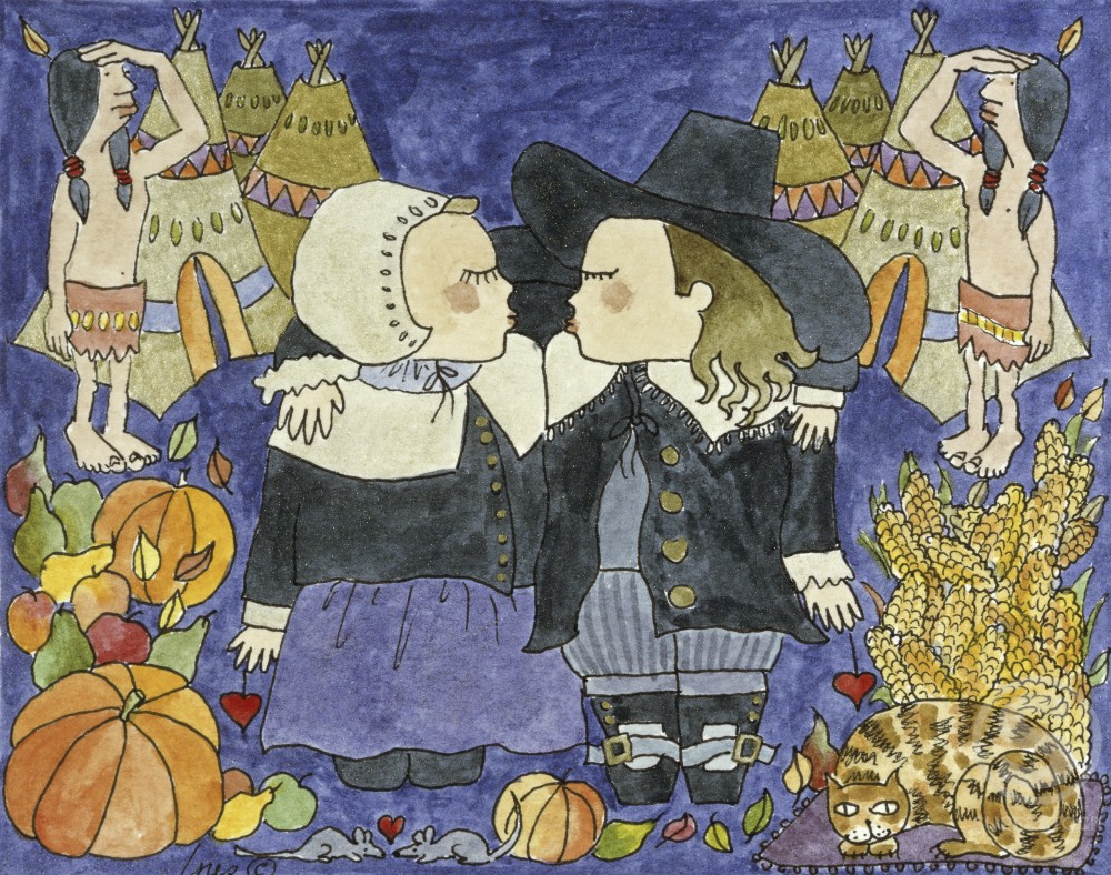 Stock Photo: 1251-105 Pilgrim Couple