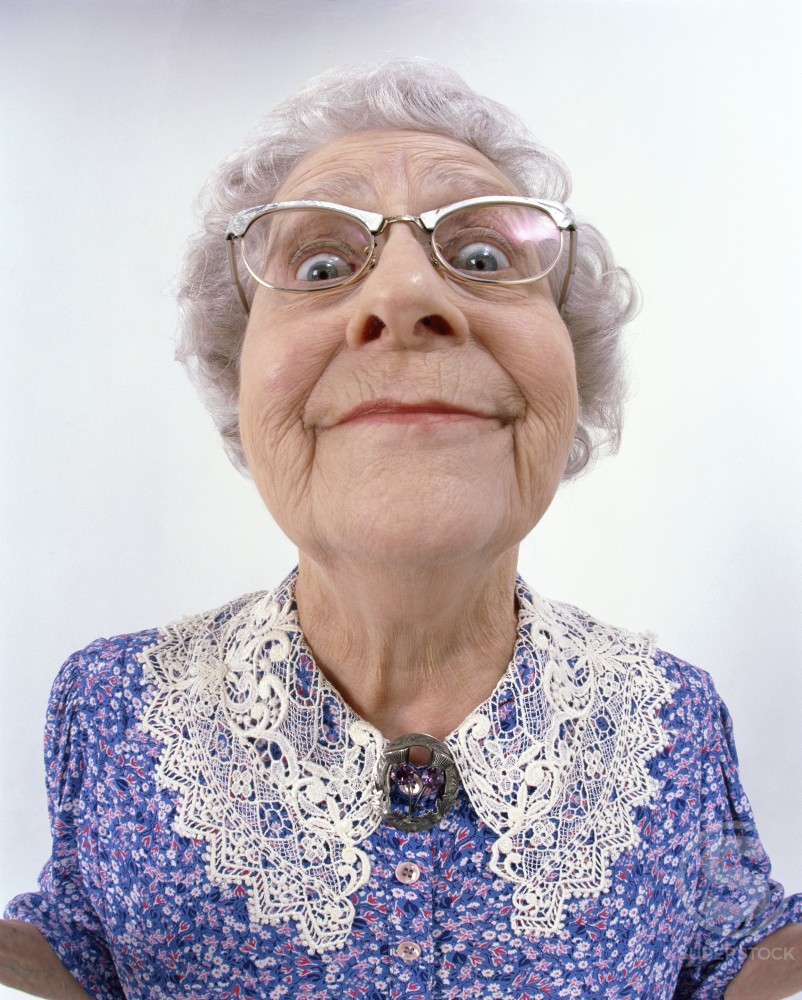 Stock Photo: 1260-125 Portrait of a senior woman smiling