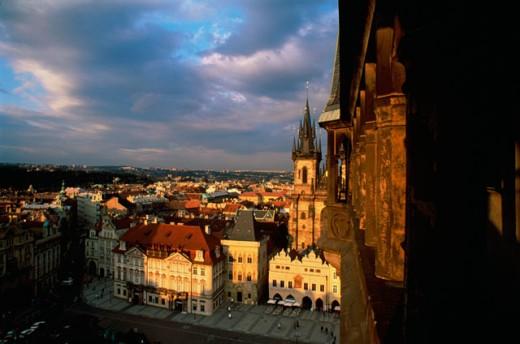 Stock Photo: 1264-215 Buildings in a city, Prague, Czech Republic
