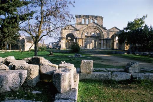 St. Simeon Monastery Near Aleppo Syria : Stock Photo