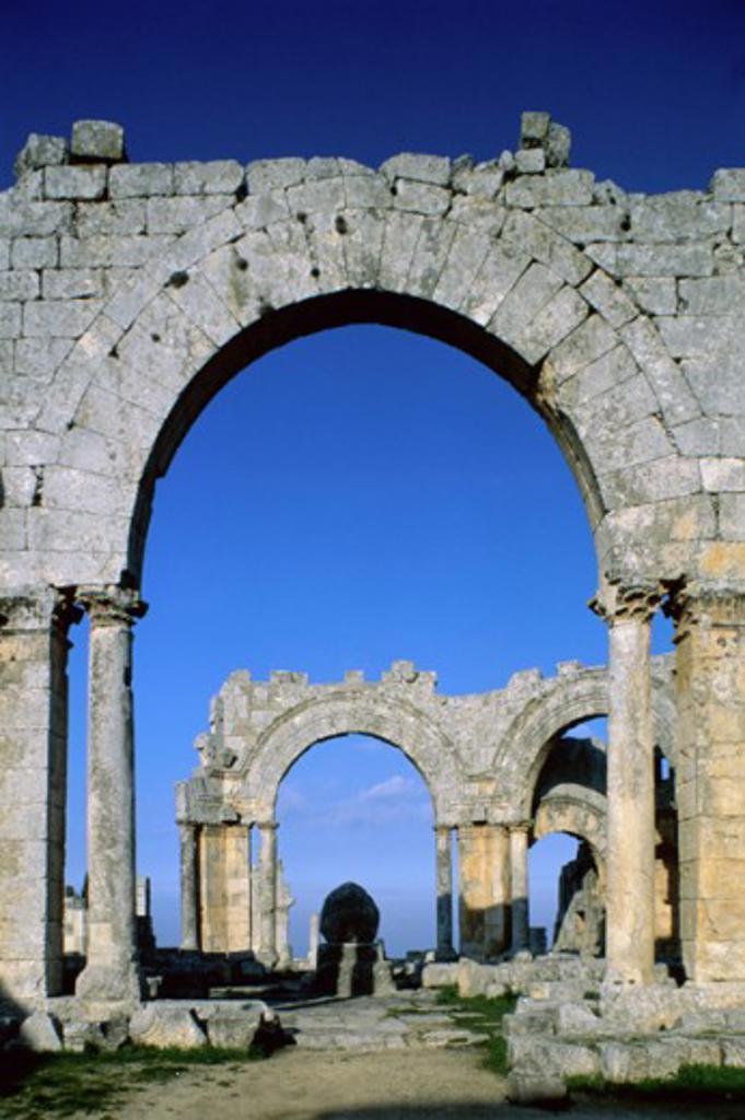 Stock Photo: 1264-928 St. Simeon Monastery Near Aleppo Syria