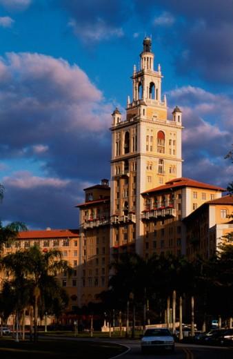 Facade of the Biltmore Hotel, Coral Gables, Florida, USA : Stock Photo