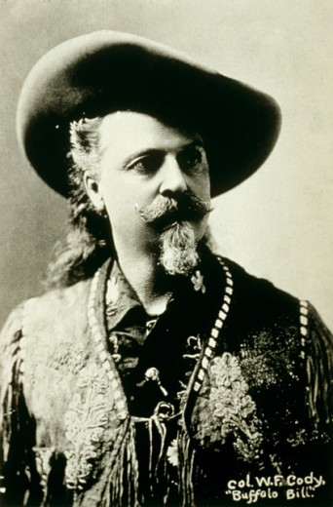 Stock Photo: 1264-962 William F. Cody (Buffalo Bill) American Showman (1846-1917)