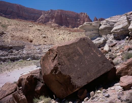 Stock Photo: 1265-408 Petroglyphs Paria Canyon Wilderness Arizona-Utah Border USA