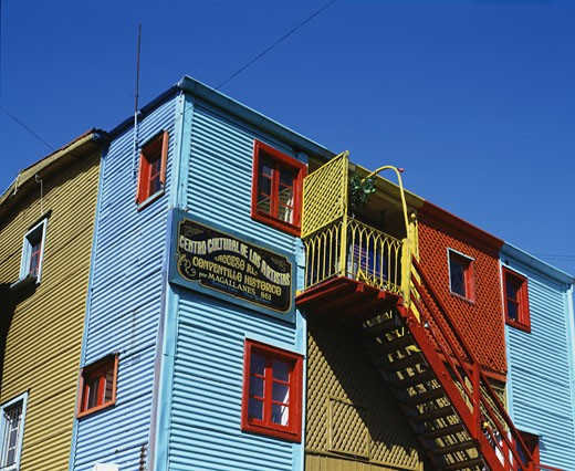 Stock Photo: 1269-1256 Low angle view of a building, Caminito, Buenos Aires, Argentina