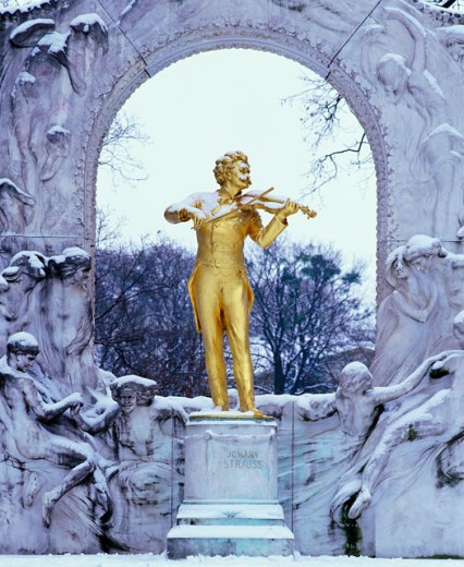 Johann Strauss Monument, Vienna, Austria : Stock Photo