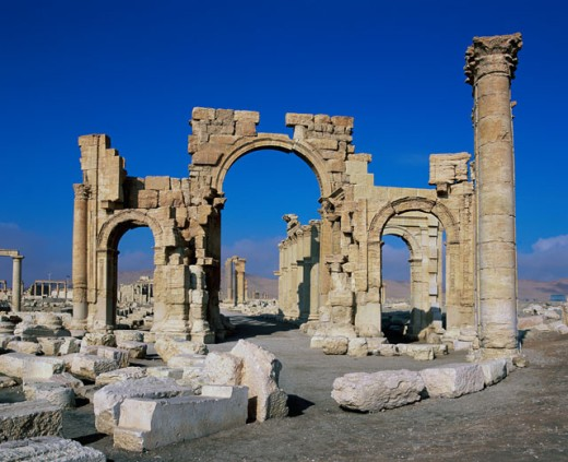 Stock Photo: 1269-1914B Monumental Arch