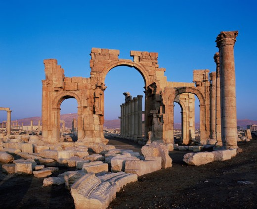 Stock Photo: 1269-1914C Monumental Arch