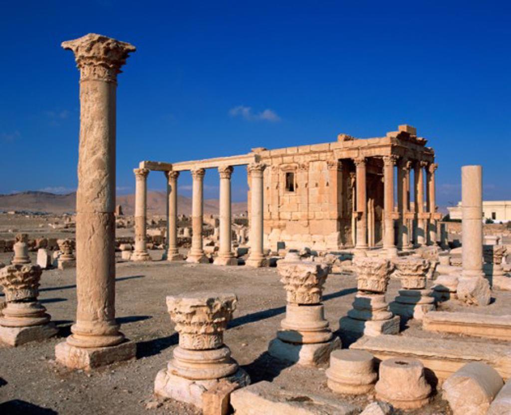 Temple of Baal Shamin Palmyra Syria : Stock Photo