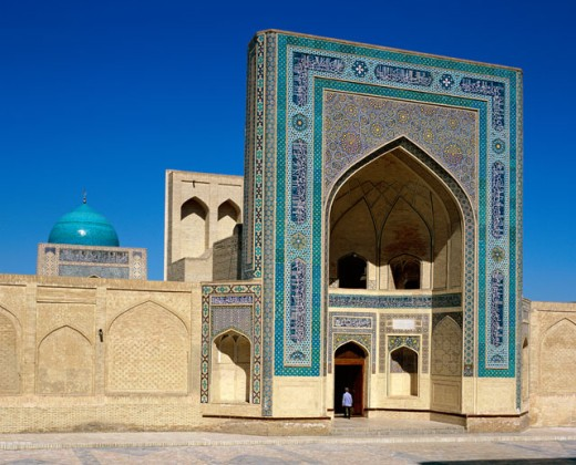 Facade of a mosque, Kalyan Mosque, Bukhara, Uzbekistan : Stock Photo