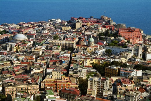 Stock Photo: 1269-2025 Aerial view of buildings in a city, Naples, Italy