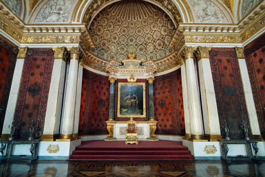 Stock Photo: 1269-2048 Interior of a museum, State Hermitage Museum, St. Petersburg, Russia