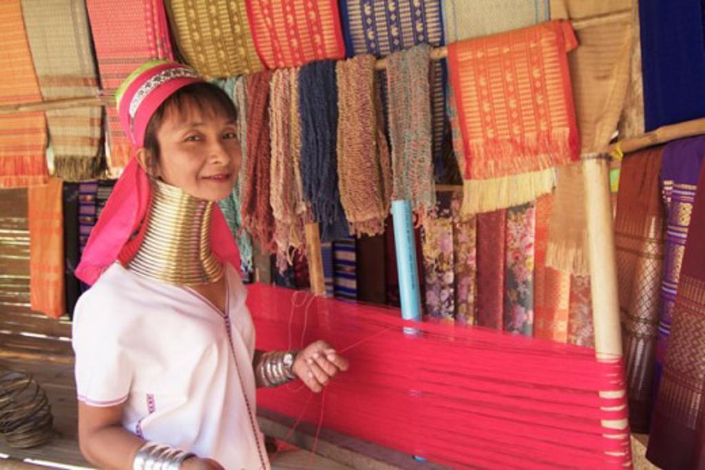 Long Neck Karen Woman Chiang Mai Thailand : Stock Photo