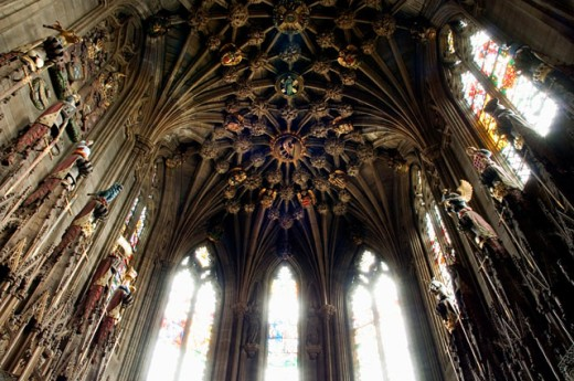 Interior of a chapel, Thistle Chapel, St. Giles Cathedral, Edinburgh, Scotland : Stock Photo