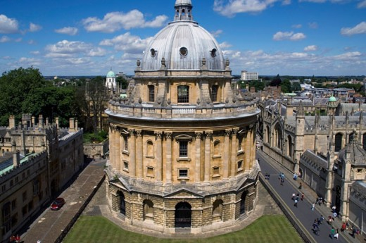 Stock Photo: 1269-2254 High angle view of a building at a university, Radcliffe Camera, Oxford, England