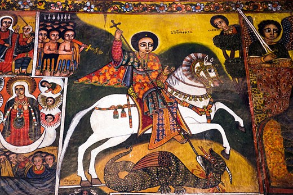 Picture of St. George, Debre Berhan Selassie Church, Gondar, Ethiopia : Stock Photo