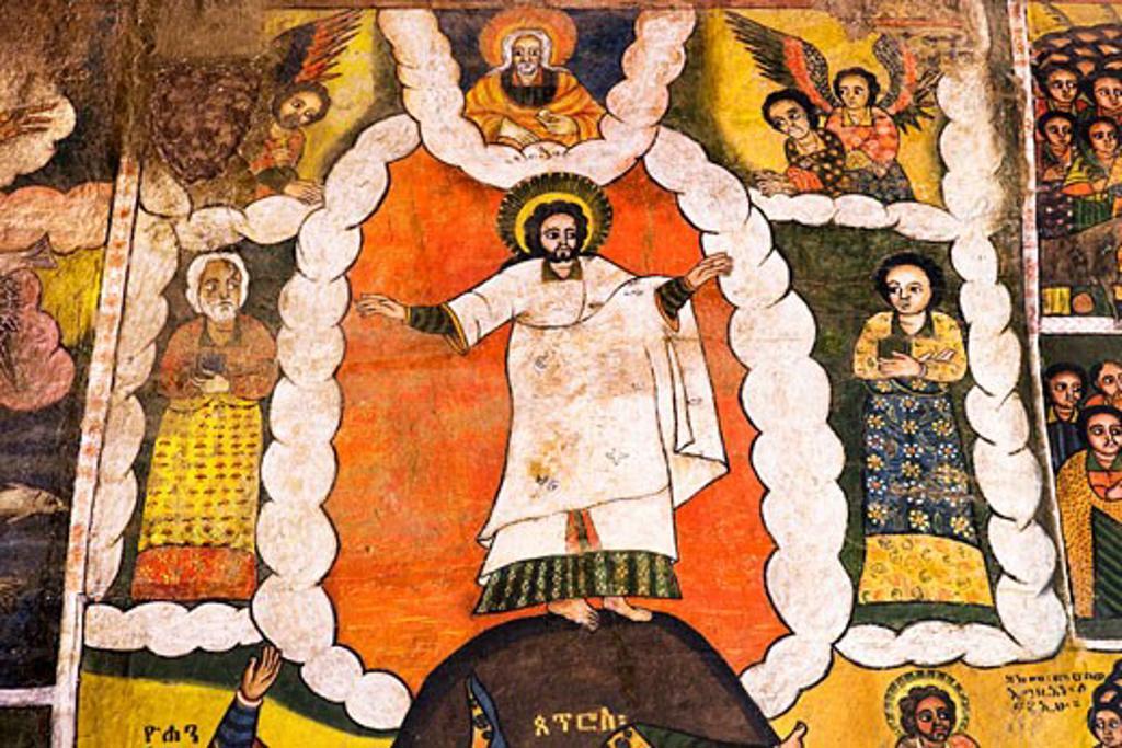 Stock Photo: 1269-2402 Picture of transfiguration, Debre Berhan Selassie Church, Gondar, Ethiopia