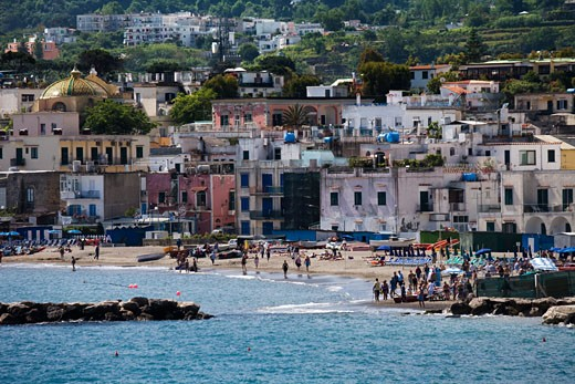 Stock Photo: 1269-2746 Buildings at waterfront, Ischia Island, Naples Province, Campania, Italy