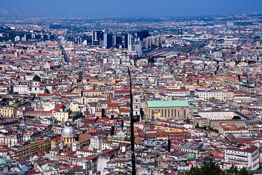 Stock Photo: 1269-2783 Aerial view of a cityscape, Naples, Naples Province, Campania, Italy