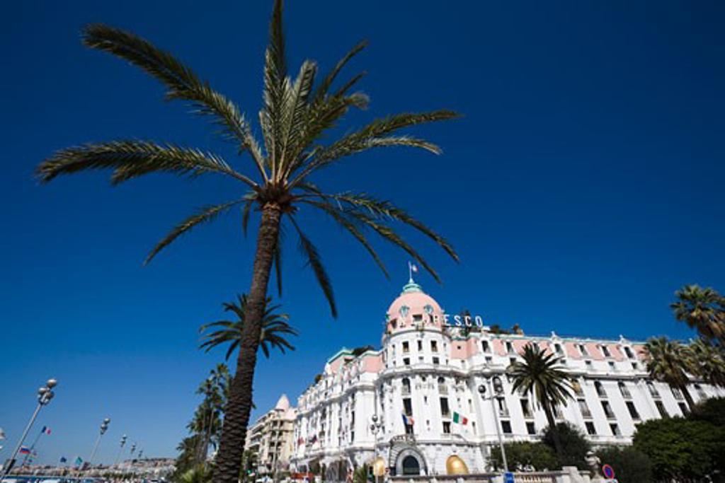 Stock Photo: 1269-2889 Hotel in a city, Hotel Negresco, Promenade Des Anglais, Nice, Provence-Alpes-Cote d'Azur, France