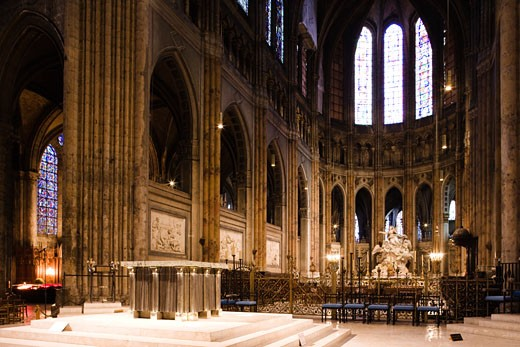 Stock Photo: 1269-2984A Interiors of a cathedral, Chartres Cathedral, Chartres, Eure-Et-Loir, France