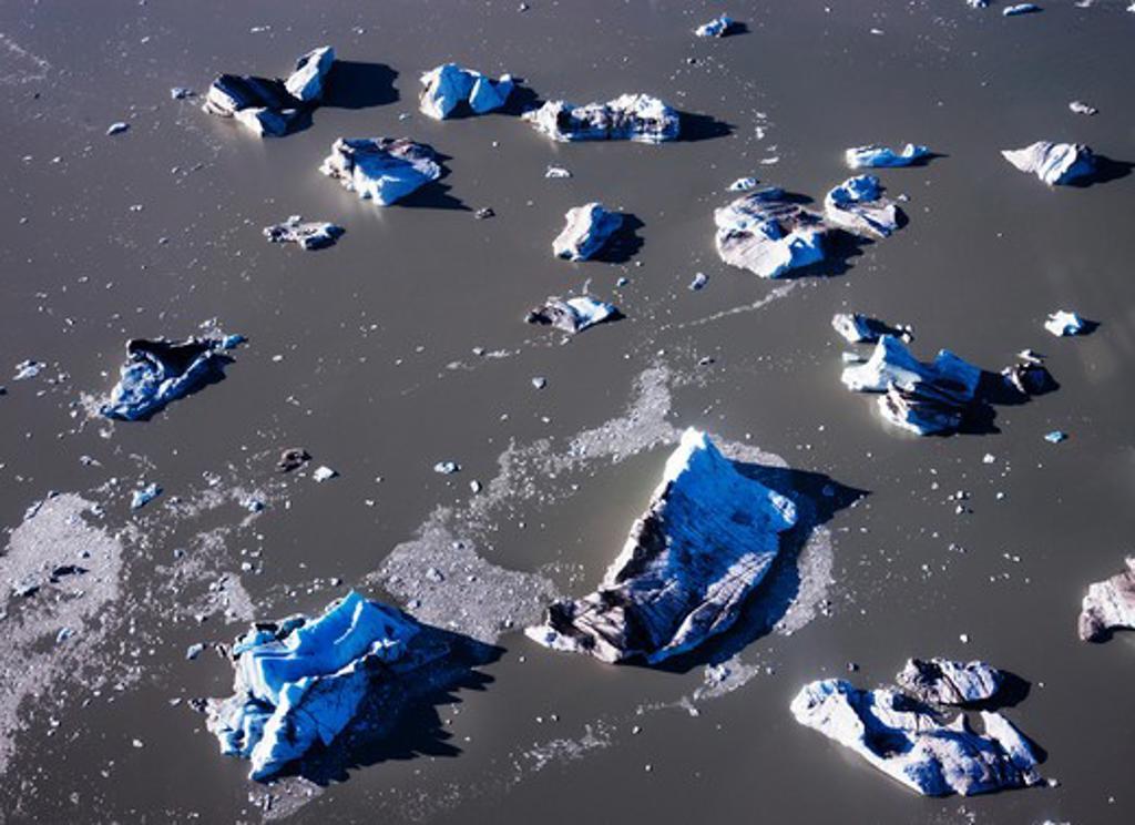 Stock Photo: 1269-3235 Aerial view of glaciers, Lowell Glacier, Kluane National Park, Yukon, Canada