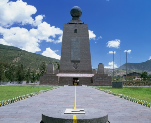 Facade of a monument, Mitad del Mundo, Quito, Ecuador : Stock Photo
