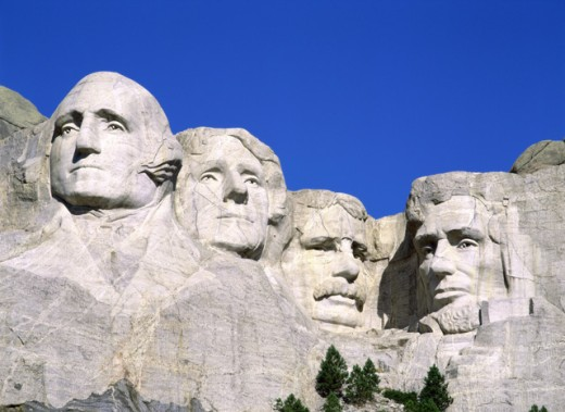 Stock Photo: 1269-643B Mount Rushmore National Memorial, South Dakota, USA