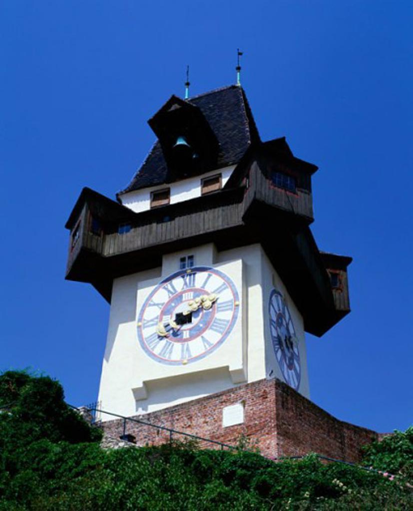 Stock Photo: 1269-725A A clock tower, Graz, Austria