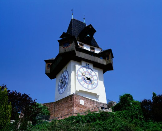A Clock Tower, Graz, Austria : Stock Photo